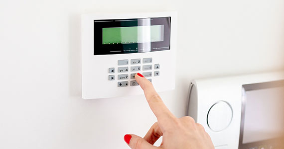 domestic intruder alarm keypad