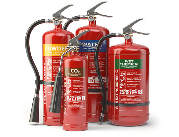 Fire extinguisher group